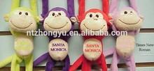 Multi-Color plush Magnetic monkey toy stuffed animal plush monkey