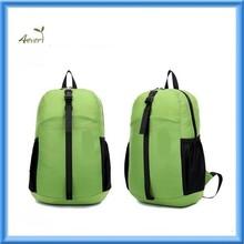 fashion folding green waterproof school laptop backpack