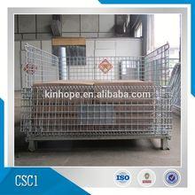 Industrial Storage Crate Steel Pallet Cage