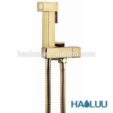 HLG05 square shape golden plated shattaf set ass cleaner
