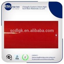 Exterior high gloss fire engine red paint
