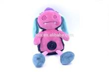 2015 Hot Sale Good Quality Newest Cute Monster Mini Keychain Bluetooth Speaker- Purple