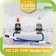 New XENCN H3 2300K 12V55W Golden Eyes Super Yellow Original Line Car Halogen Fog Light OEM Quality Auto Lamp