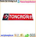 Diseño personalizado auto- adhesivo de metal de pintura logotipos de la compañía
