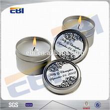 Fashion empty tin candle
