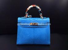 guangzhou supplier customised hot-sale new designer wholesale snake pattern big brand real leather bag