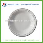 Royal porcelain dessert plates, white ceramic serving plates dishes with GGK