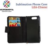 Custom Flip Leather Phone Cover Case for Sony Z3MINI