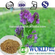 100% nature extract alfafa extract, Medicago sativa extract Flaronoids 5% powder , 10:1 alfalfa extract powder