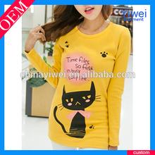 Top Fashion Girl T Shirts Printed Designs Cheap T Shirt