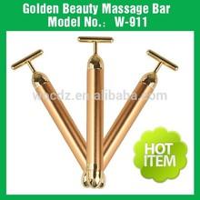 Top grade anti-wrinkle vibrating gold energy beauty bar