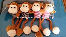 Hot New Plush Toy China Wholesale plush stripe monkey with long leg