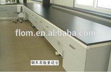Laboratory steel wooden lab bench