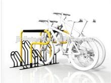four pcs portable vertical metal powder coating bike stand
