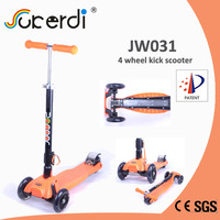 2014 new patent product high quality foldable kids kick scooter elliptical scooter