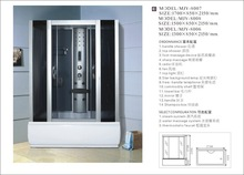 ABS compound material rectangle tray bath and shower combinations