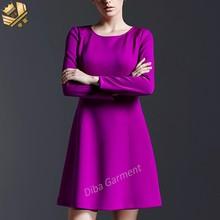 wholesale guangzhou manufacturer purple dress office for women