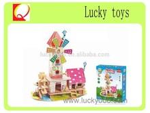 3d Educational Toys 3D Puzzle wooden jigsaw puzzle diy assembling building blocks model
