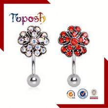 Fashion Design Diamond Ornament Navel Ring