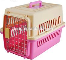 Plastic beautiful Outdoor Closed Travel Pet Cage, Pet cat Carrier