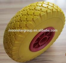 solid rubber pu foam rolling wheelchair wheel