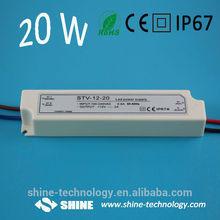 High quality CE RoHS EMC LVD led strip power supply, 220v 12v ac/dc led transformer, 12v led driver 20w