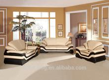 Foshan Shunde Furniture manufactory Luxury European style cow leather sofa living room sofa B123