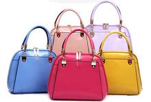 2014 New fashion famous design multicolor handbag tote bags women PU leather messenger shoulder bag