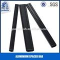Cor preta de alumínio spacer bar