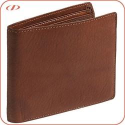 Wholesale natural pebble man leather wallet