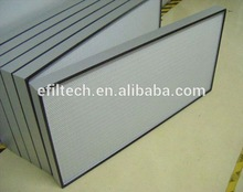 Good quality Supplier Aluminum Frame fiber glass air filter