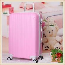 2014 Solid stripe ABS+PC luggage 3 pieces set suitcases women suitcase men