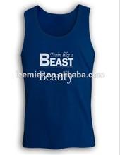 Men's custom logo sleeveless tank top