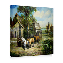 Modern famous landscape oil painting reproduction from china