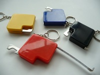 Promotion pocket colorful and cute 1m mini steel tape measure