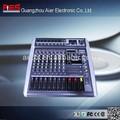 alimentado profesional mezclador de audio con amplificador