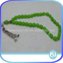 2013 larger wholesale green 33 Muslim prayer beads lucky prayer beads