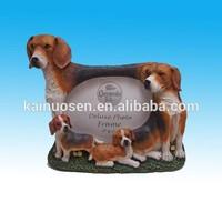 Family of Beagles polyresin photo frames