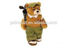 Plush animal toy/soft stuffed Teddy Bear/Golf Teddy