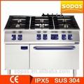 Sopas serie 700 de acero inoxidable independiente profesional mejor precio cocina de gas, Estufa de gas, Gas gama 6 quemador
