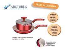 aluminum set of fry pan and sauce pan with ceramic coating