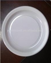 "100 Quality White Disposable Plastic Plates 8.5"" (22 cm)"