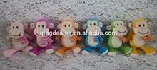 small plush monkey with keyrings