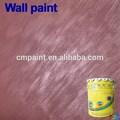 Iç duvar kaplama- sıvı akrilik reçine yanmaz su geçirmez metalik iç doku fırça metal doku boya