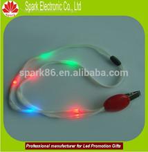 led light led nylon lanyard four type flashing function