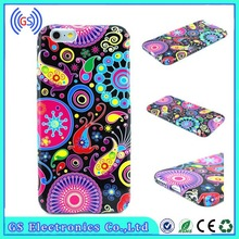 Owl Flower Print TPU Water paste custom mobile cover for iPhone 5