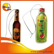 Advertising Car air freshener with bottle shape