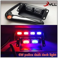China Deck dash strobe light 6W LED emergency lights for security vehicles used emergency vehicle lights