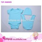 Hot sale wholesale sky blue cotton baby onesie baby bodysuit