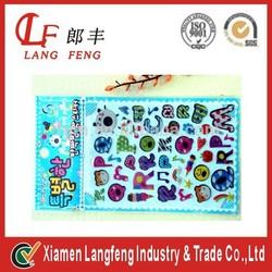 pvc bubble label,printing waterproof pvc label